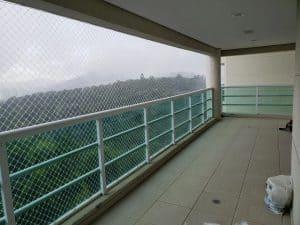 Redes de Proteção com Guarda Corpo de Vidro